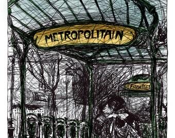 Montmartre, métro Abbesses