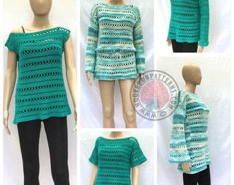 Anysia Summer Mix & Match Top, Tunic, or Beach Cover - Crochet PDF Pattern