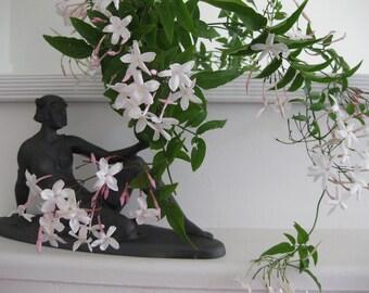 Art Deco style seated lady sculpture, figurine, vase