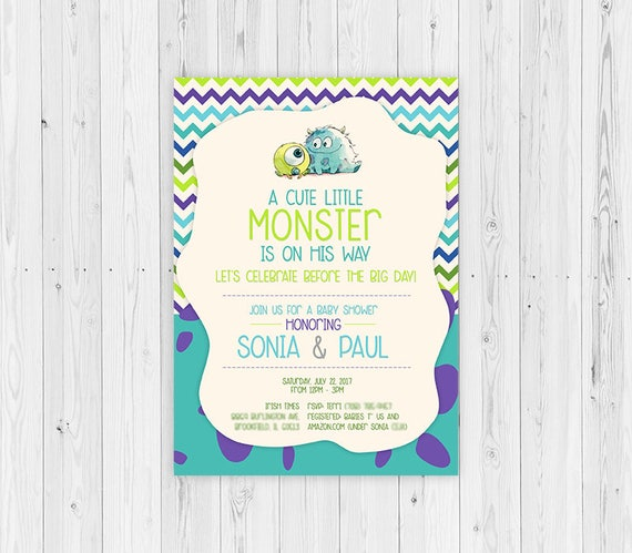 Superior Monsters Inc Monsters Inc Baby Shower Invitations Baby