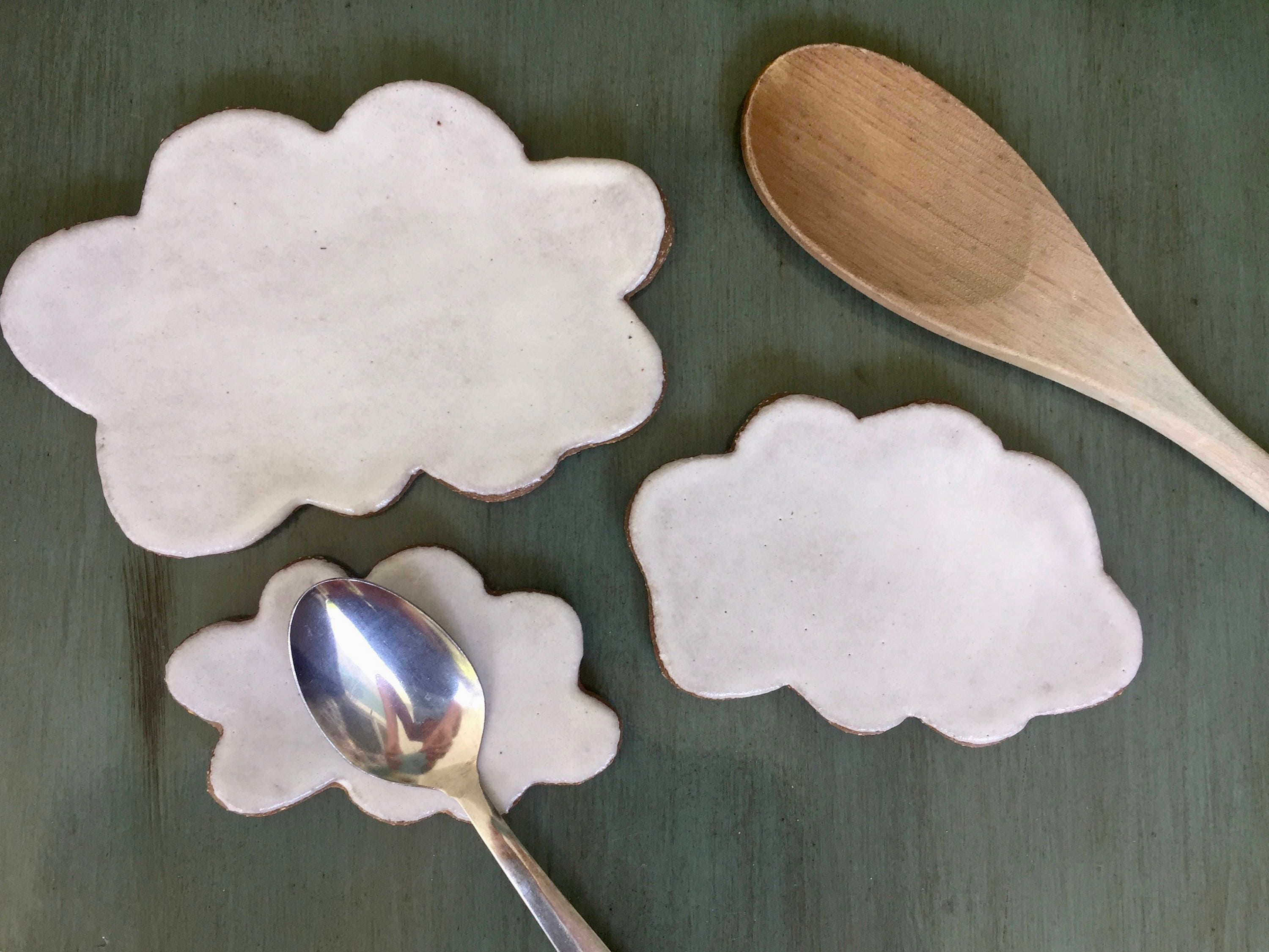 Cloud Spoon Rest Coffee spoon rest pottery Jewelry Dish