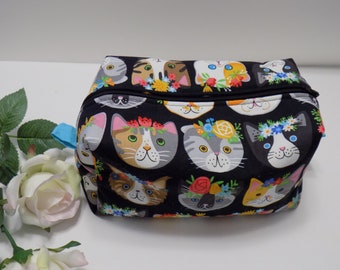 Kona Cat - Makeup Bag, Zipper Pouch, Cosmetic Bag, Toiletry Bag