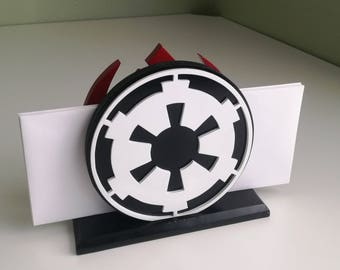 Star Wars Wood Cutout Rebel/Imperial Sign Letter or Napkin Holder