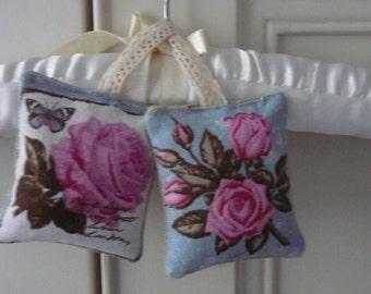 Floral Lavender Sachets, Vintage Botanical, Drawer Freshener, Scented Gift, Organic Gift, Housewarming, Wedding, Lavender Bags, Fabric Gift