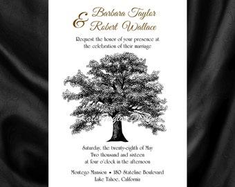 Oak Tree Wedding Invitation & RSVP  Tree Wedding Invitations   Tree Wedding Invitation - Tree Invitation and RSVP - Tree Design 84