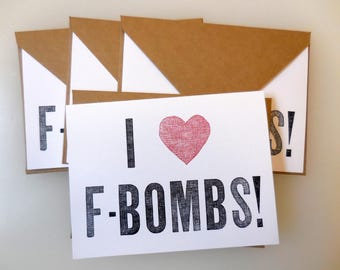 F-Bomb Notecards - Set of 4