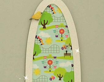 At The Fun Fair Fairy Door, Indoor Fairy Door, Skirting Board Fairy Door, Shelf Sitting Fairy Door, Handmade by Jennifer