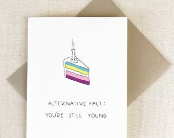 Funny Birthday Card, Best Friend Birthday Card, Boyfriend Birthday Card, Trump Birthday Card, Card for Him, ALTERNATIVE FACTS