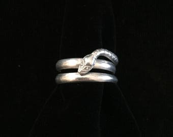 antique french snake ring