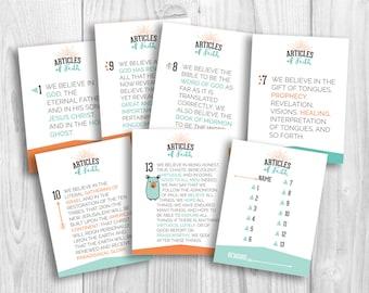 LDS Articles of Faith flashcards