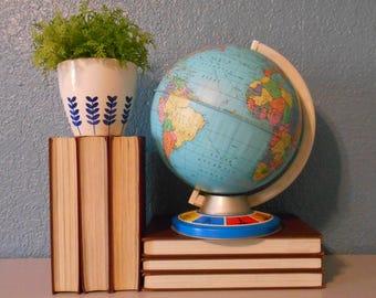 Vintage Ohio Art Globe, World Globe, Classroom globe, Mid-century globe, Vintage school, Industrial decor, Globe decor
