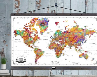 The best damn travel maps in the world by thetravelmapstore large push pin travel map 40x60 or 44x72 canvas hanging map push pin map gumiabroncs Gallery