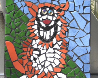 Funky Mosaic Cat Wallhanging
