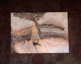 Traces of Gold...Original Mixed Media Painting...unframed Free Shipping US Only.