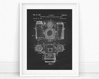 Camera Print - Camera Wall Art, Vintage Camera, Photographer Print, Camera Patent Print, Vintage Camera Print, Printable Wall Art