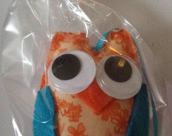 Whimsical Orange Owl Ornament