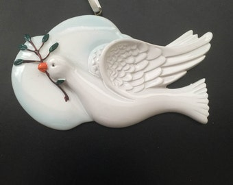Peace Dove Personalized Christmas Ornament
