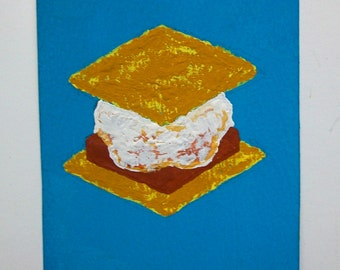 """Have S'more #86 (ARTIST TRADING CARDS) 2.5"""" x 3.5"""" by Mike Kraus"""