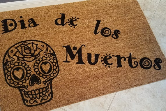 Door Mats / Welcome Mat / Custom Doormats / Seasonal Doormats / Sugar Skull / Halloween Doormat / Gift Ideas / Gifts for Him / Gifts for Her