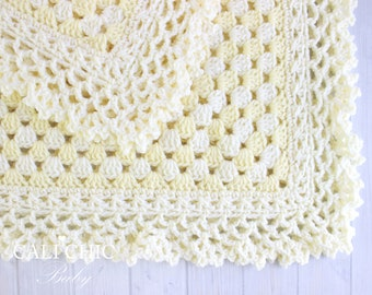 Crochet Baby Blanket PATTERN 143 - Freesia - Crochet PATTERN 143 - Instant Download