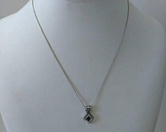 ON SALE Vintage Sterling Silver Necklace with Silver Pendant