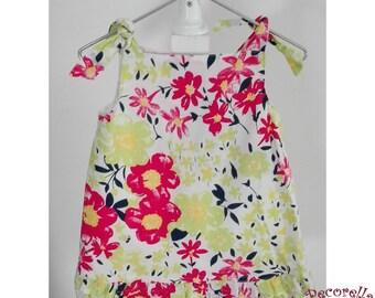 Baby girl summer dress in flower print