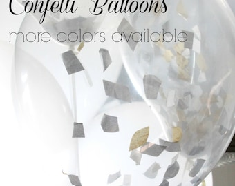 Confetti Filled Balloons, Graduation, Custom Colors Rose Gold  Balloons,  Wedding Balloons, Birthday, Baby Shower, Engagement, , Glitter