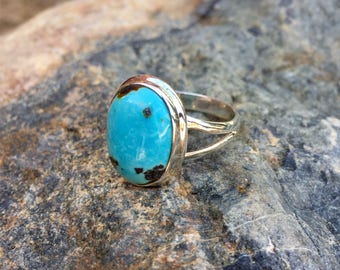 Genuine . Sterling Silver . Arizona . Turquoise . Ring . Size 9 1/2