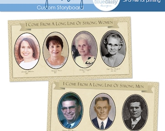 Custom Family History Storyboard