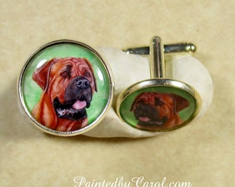 Mastiff Cufflinks, Mastiff Dad Gifts, Mastiff Mens Gifts, Mastiff Accessories, Mastiff Lover Gifts, Cufflinks with Mastiff
