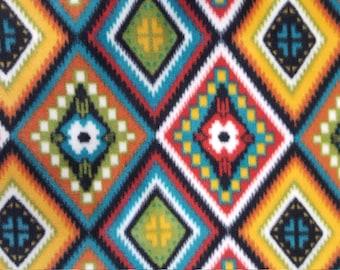Aztec Diamond Fleece Fabric sold by the yard