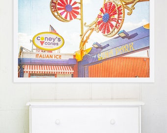 Coney Island Boardwalk Fair // Nursery Decor // Nursery Wall Art // Kids Room Art // Brooklyn, NY // Boardwalk Art Print - Coney's Cones