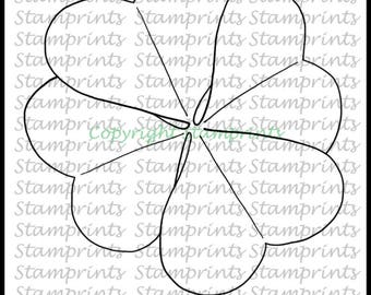 Clover (TLS-1817) Digital Stamp. St. Patrick's Day.Cardmaking.Scrapbooking.MixedMedia.