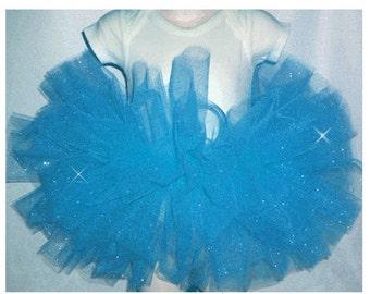 Glitter Tutu , Blue Glitter Tutu Skirt , Blue Glitter Baby Tutu , Blue Glitter Girls Tutu , Blue Glitter Tutu Sizes Baby-Girls, Blue Tutu