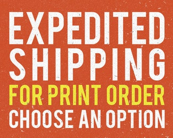 Expedited shipping option for print order