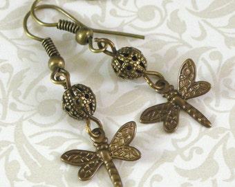 Dragonfly Earrings - Filligree