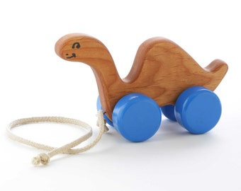 Wooden Dinosaur Pull Toy - Toddler Toy - Dino Toy