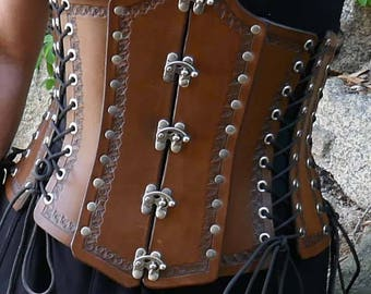 Underbust Leather Corset