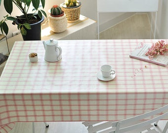 Laminated Fabric, Pink Plaid Fabric - By the Yard 100822