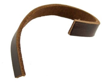 genuine brown leather 50 cm - width 1 cm