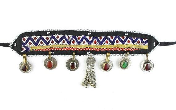 Eastern Vagabond Headband, Afghani Head Piece, Vintage, Middle Eastern, Hair Piece, Festival Style, Tribal, Ethnic, BOHO, Gypsy, Hippie