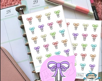 Bow Paper Clip Stickers - Planner Stickers - Planner Decoration (MM219)