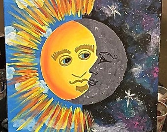 Sun and Moon Painting