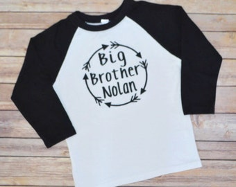 Big brother shirt, personalized big brother shirt, big bro shirt, brother arrows, little brother shirt, little bro, pregnancy announcement