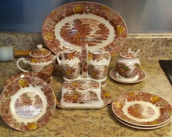 Vintage Nasco - Japan Mountain Wood Land Pattern Replacement Pieces, Assorted Variety, Assorted China
