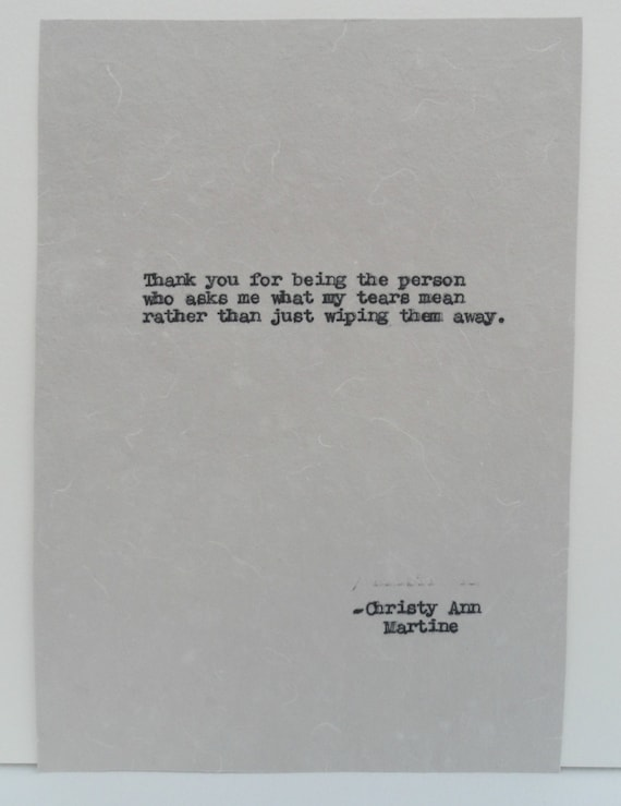 Romantic Quotes - Gift - Quote Hand Typed by Writer with Vintage Typewriter