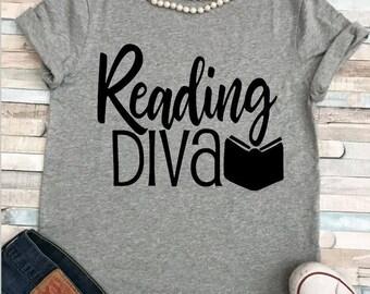 Reading Diva/Teacher Shirt/ Reading Teacher/ Plus sizes