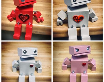 "Design Your Own 4"" OddBot! Choose Colour, Heart etc."