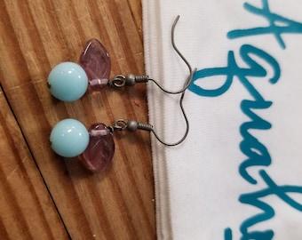 Vintage Blue Berry Earrings