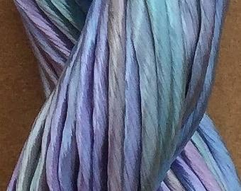 Thick Rayon Floss, Viscose Floss, 9 Strand Viscose Floss, Embroidery Thread, Braidmaking, Kumihimo, No.80 Sky Blue Pink